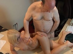 This juvenile golden-haired lady doctor knows well how to treat an old guy during the time that medical examination. That Babe applies him a modern therapy which consist in lengthy make mincemeat of balls, intense 10-Pounder engulfing and fuck