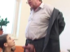 Horny older teacher is seducing chick's lusty beaver