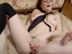 Nasty Samantha is fucked in her sexy white wazoo