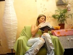 If u ask what my gal ally prefers I will answer that it's the pair sex fucking that Melena likes majority of all. That Babe was reading a lyrics when I started to record this amateur sex film. Several minutes have passed and my hawt girlfriend gave up reading and started taking the jeans off. Hmm, it appears to be she's gonna play some amateur sex games with me and I don't mind it. My biggest amateur dick quickly jumps into her mouth and then we test each position from Kama Sutra lastly reaching the explosive orgasm!